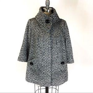 Forever 21 | tweed wool blend swing coat S